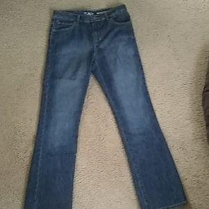 Children's place boys bootcut blue jean pants